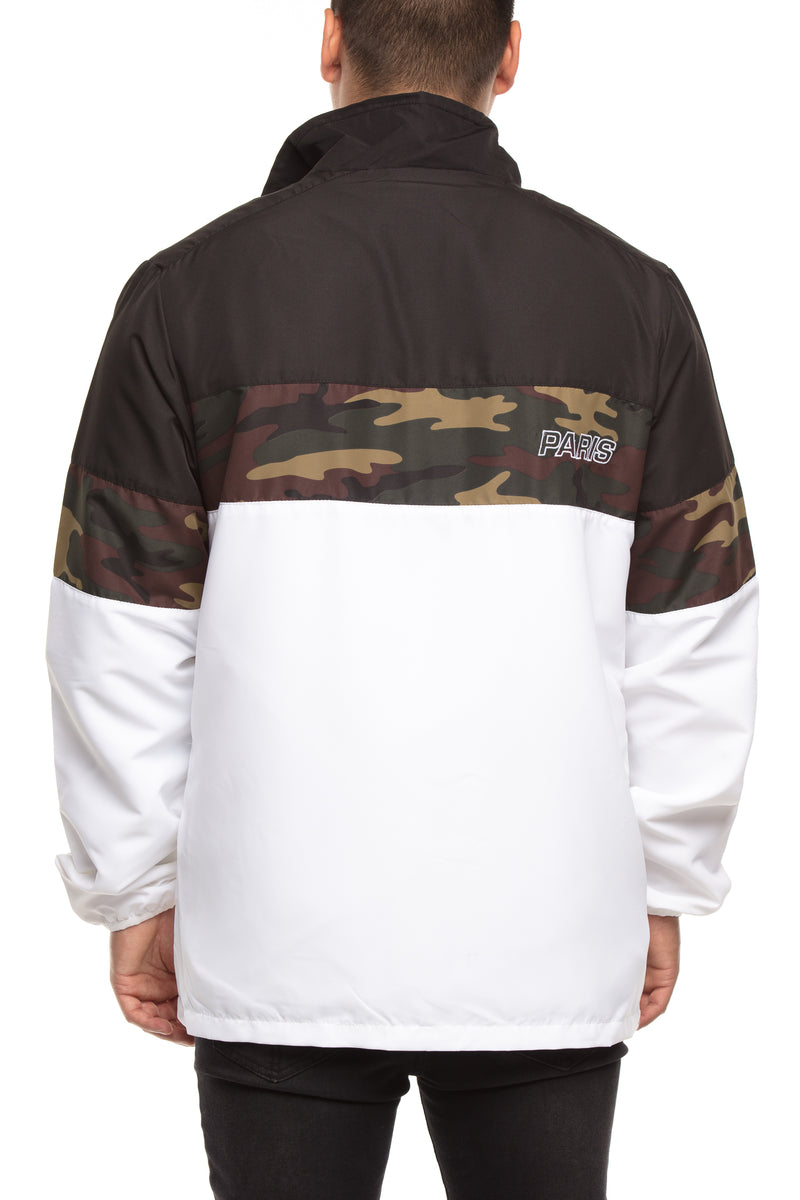 Carré Athletique Windbreaker Jacket Black/Camo/White