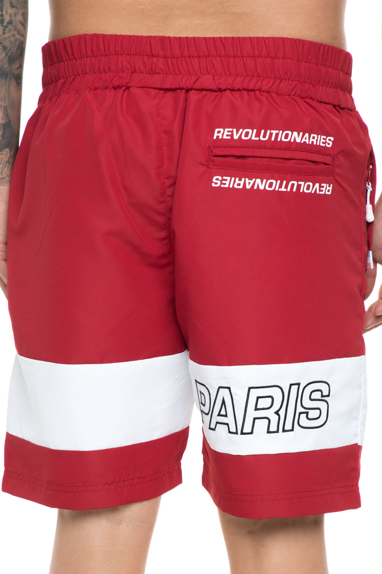 Carré Rue Track Short Crimson/White