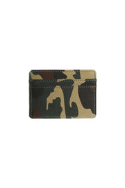Carré Argent Canvas Card Holder Camo
