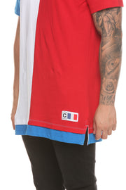 Carré Collier SS Tee White/Blue/Red