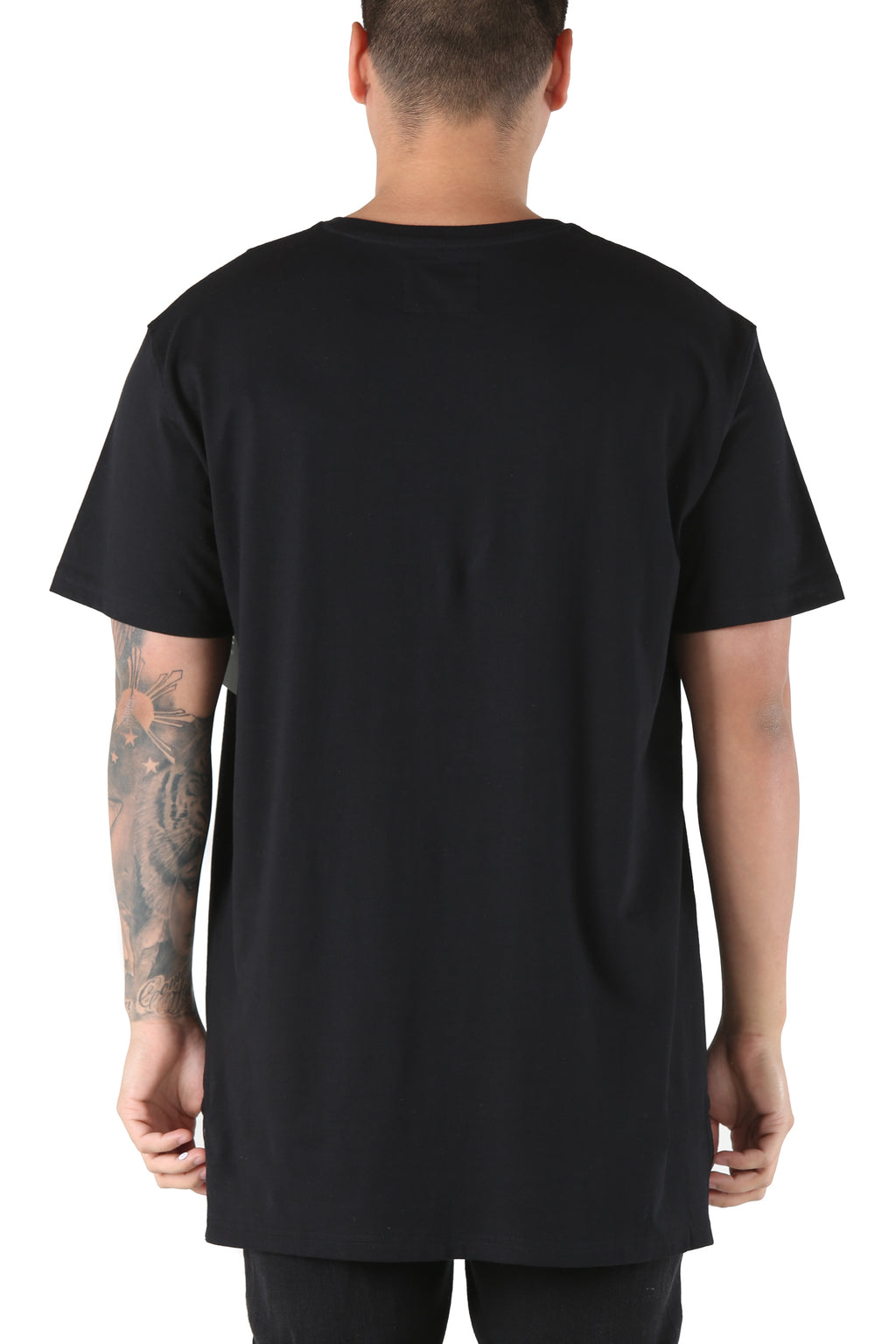 Carré Bande Incline Divise Tee Black