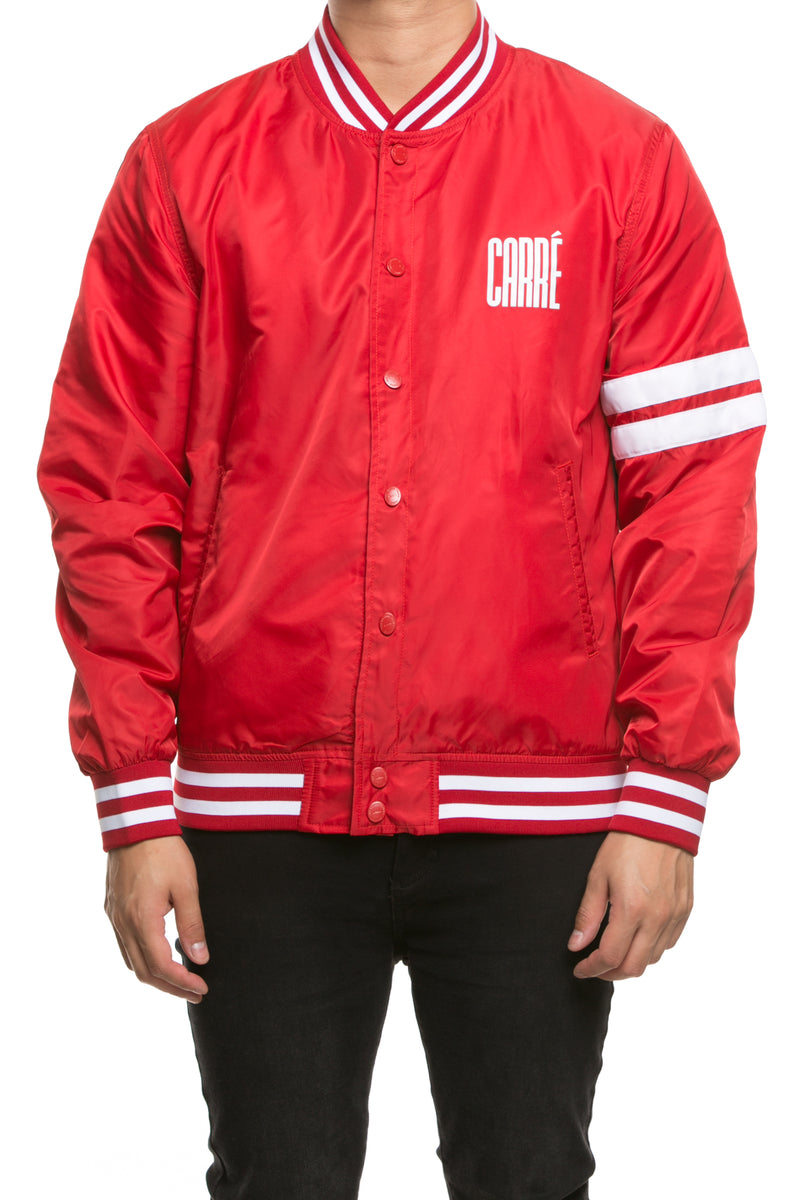 Carré Noir Varsity Jacket Red/White