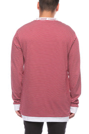 Carré Collier LS Tee Crimson/White