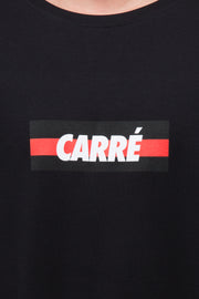 Carré Bande Incline Terreux Tee Black