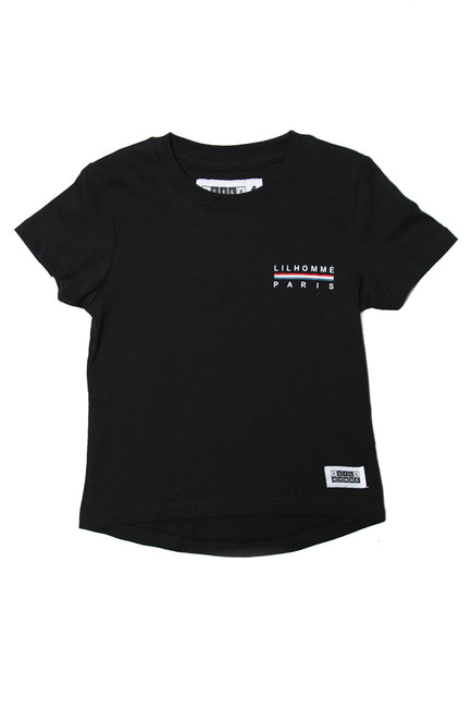 Lil Homme Bannerol Droptail 2 Tee Black