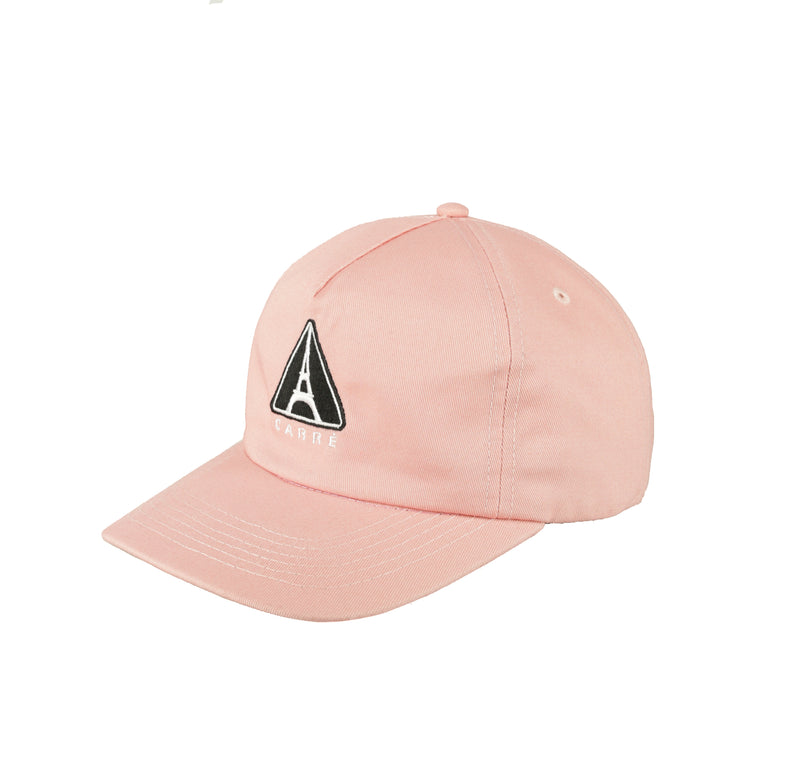 CARRÉ IRON WARNING STRAPBACK PEACH