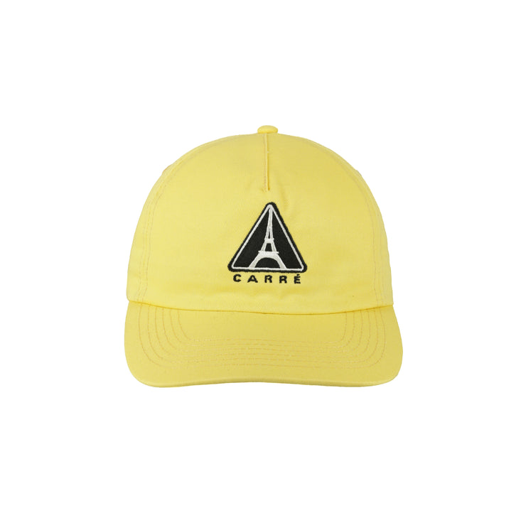 CARRÉ IRON WARNING STRAPBACK YELLOW