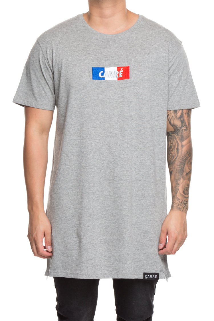 Carré Flag Incline Capone 3 Embroidery Tee Grey