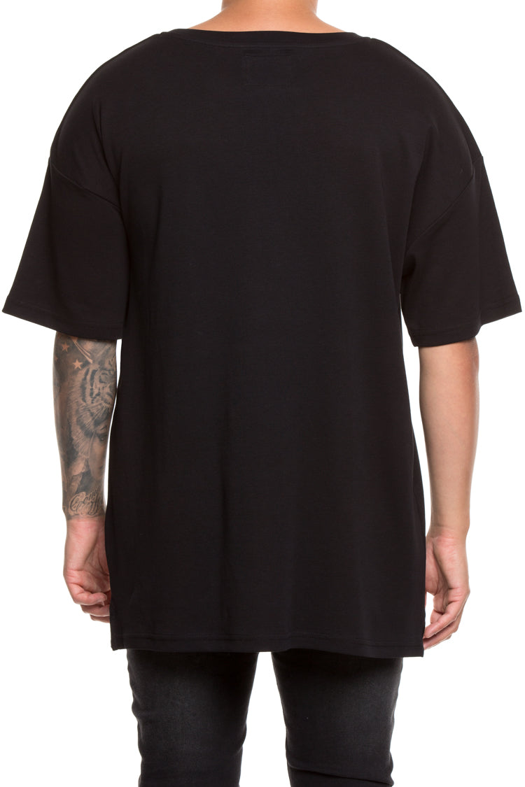 Carré 1789 Terreux Embroidered Tee Black