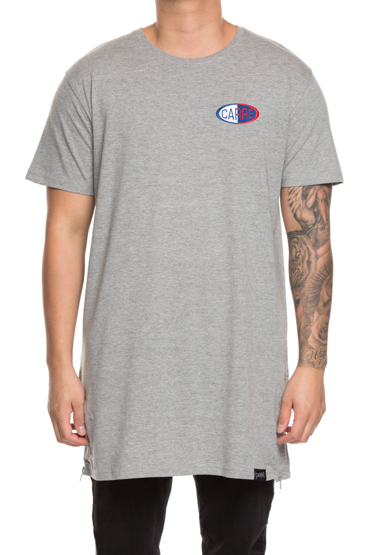 Carré Warped Capone 3 Embroidered Tee Grey