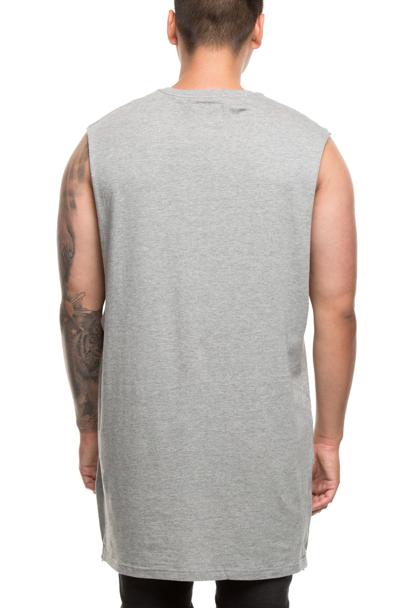 CARRÉ PERSPECTIVE CAPONE MUSCLE TEE GREY