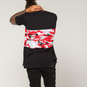 Carré Camo Rouge Bloc SS Tee Black/Red Camo