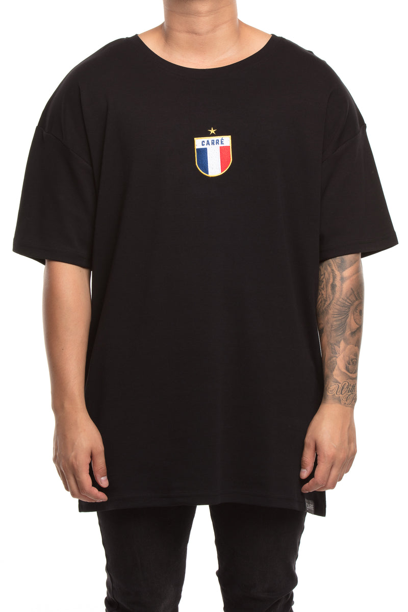 Carré Le Foot Embroidery Terreux Tee Black