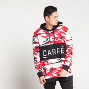 Carré Camo Rouge LS Hood Red Camo/Black