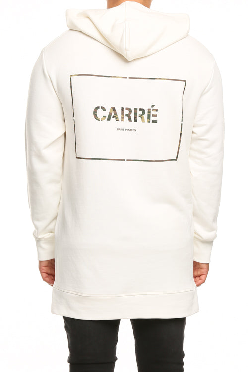 Carré Section Camo Raffine Hood Off White