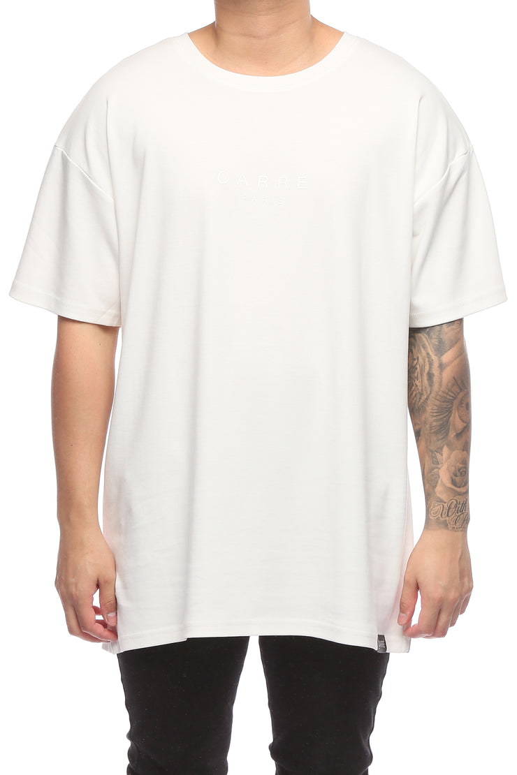 Carré Centre Terreux SS Tee Off White