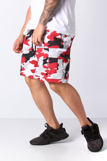 Carré Rouge Cargo Short Red Camo
