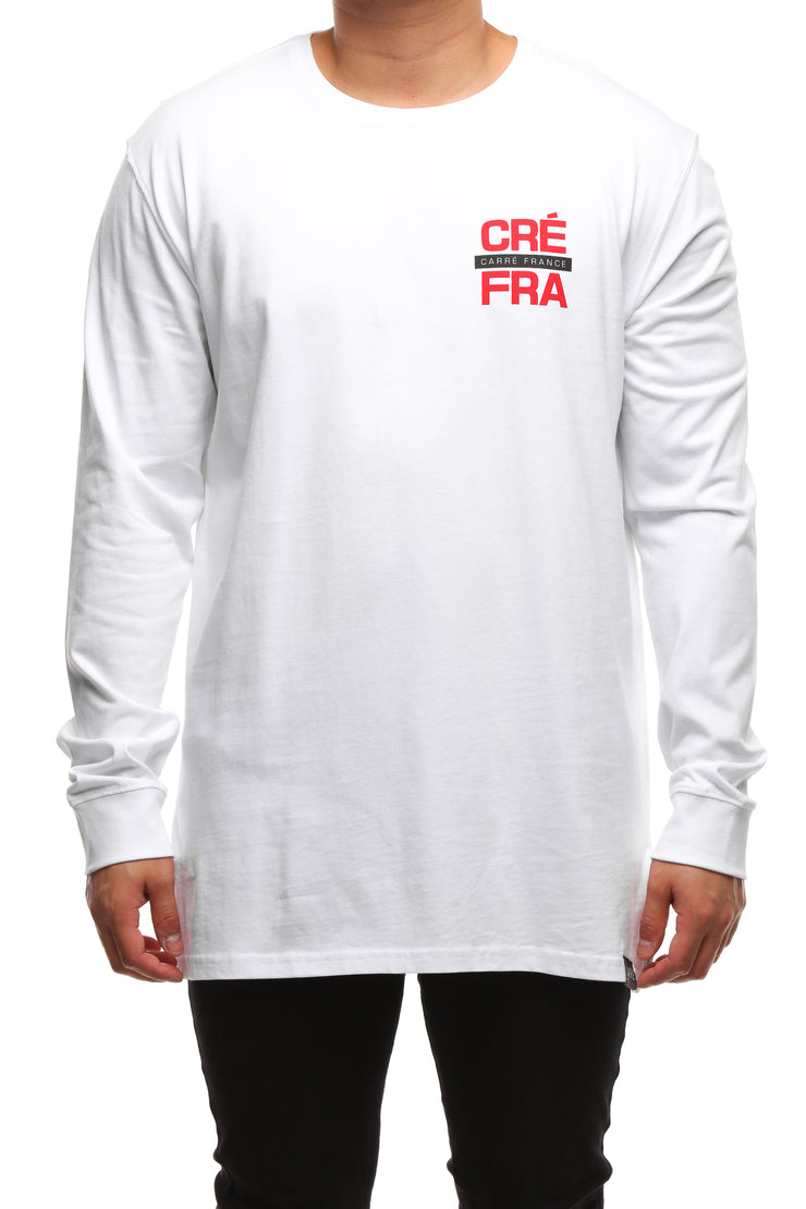 Carré Abbreviation Divise LS Tee White