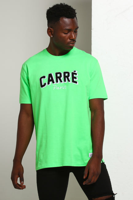 Carré Brilliant SS Tee Neon Green