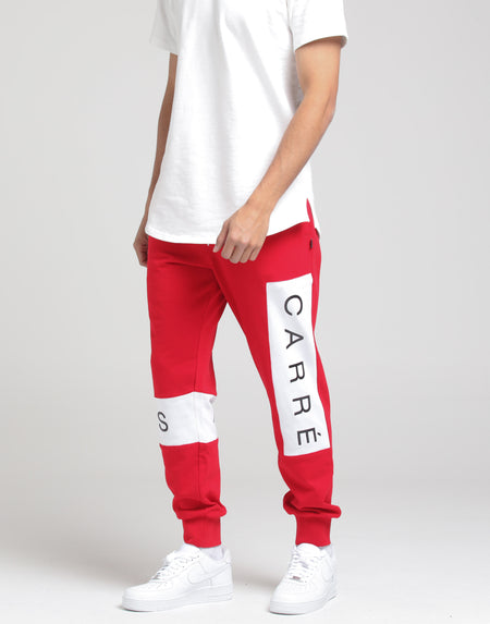 Carré Piece Sweatpant Red