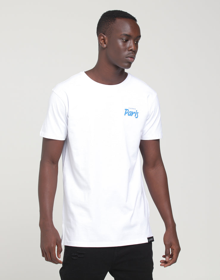 Carré Ecriture Divise SS Tee White/Royal