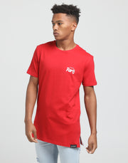 Carré Small Ecriture Divise SS Tee Red