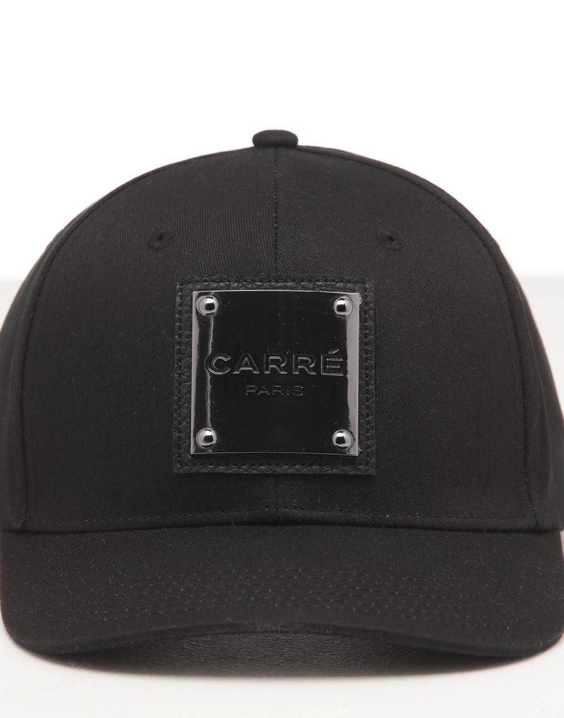 CARRÉ STAPLE METAL GRAND SNAPBACK BLACK/BLACK