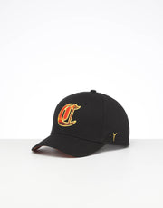 CARRÉ MONTAGNES GRAND SNAPBACK BLACK/ORANGE TARTAN