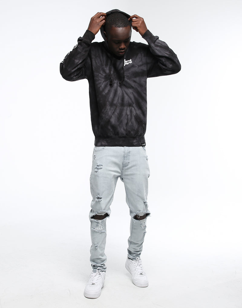 CARRÉ SOURIRE TIE DYE HOOD BLACK/GREY