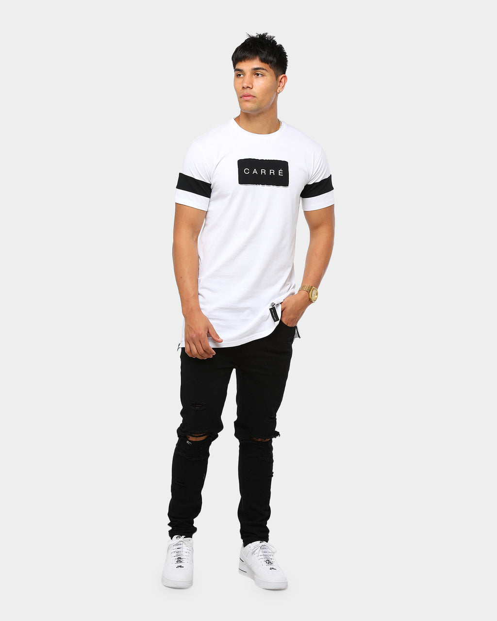 Carré Men's Fragment SS Tee White/Black