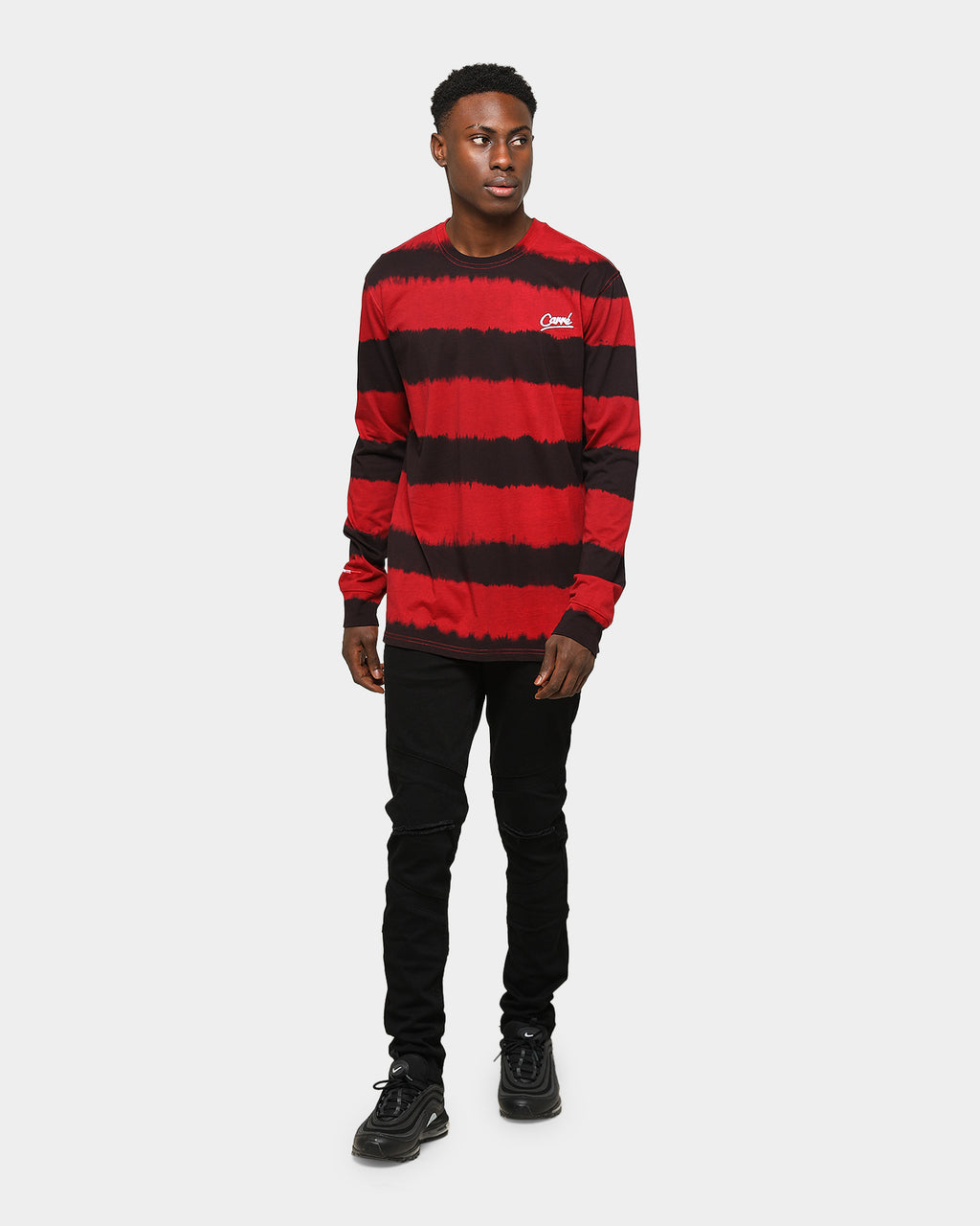 Carré Vague Classique Long Sleeve T-Shirt Red/Black