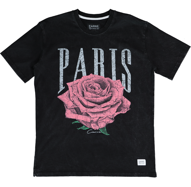 Carre Rose Vintage T-Shirt Black/Pink