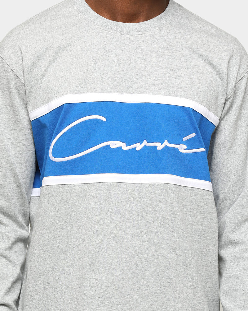 Carré Scripted Classique Long Sleeve T-Shirt Grey Marle/Blue