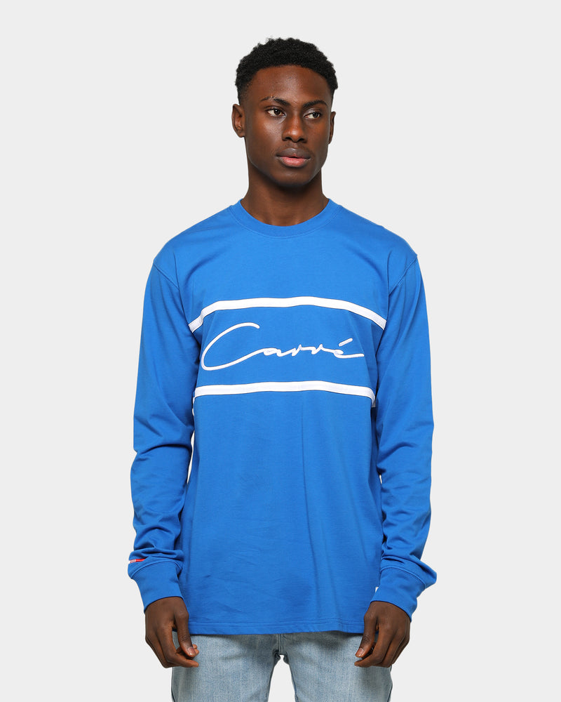 Carré Scripted Classique Long Sleeve T-Shirt Grey Blue