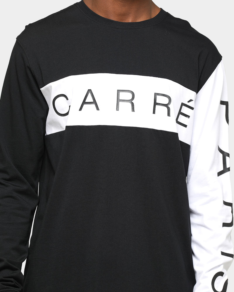 Carré Piece Long Sleeve T-Shirt Black/White