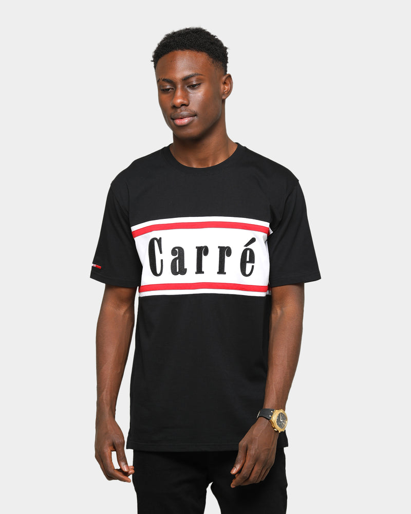 Carré Hardila Plage Classique Short Sleeve T-Shirt Grey Black/White