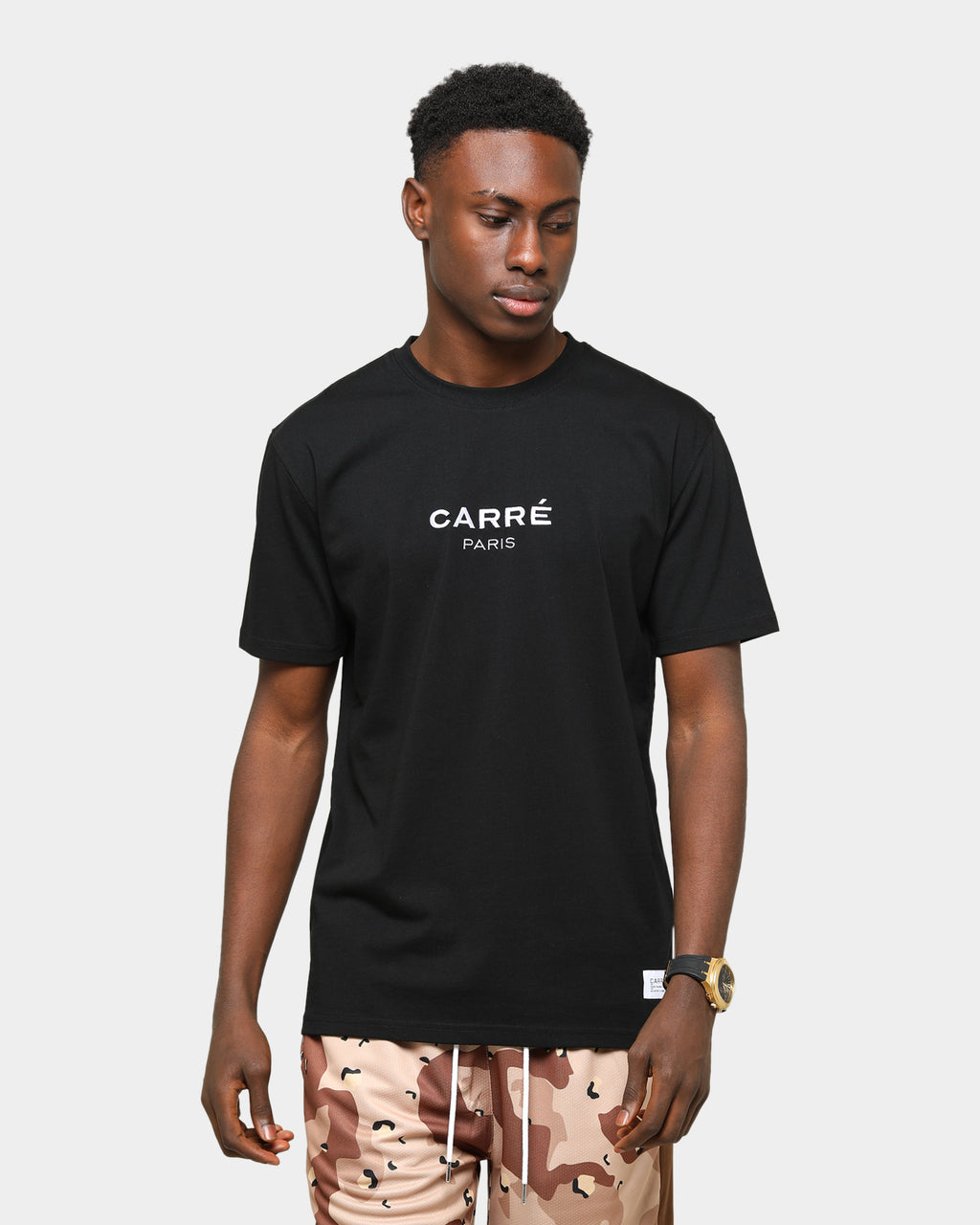 Carré Men's Staple Classique Short Sleeve T-Shirt Black