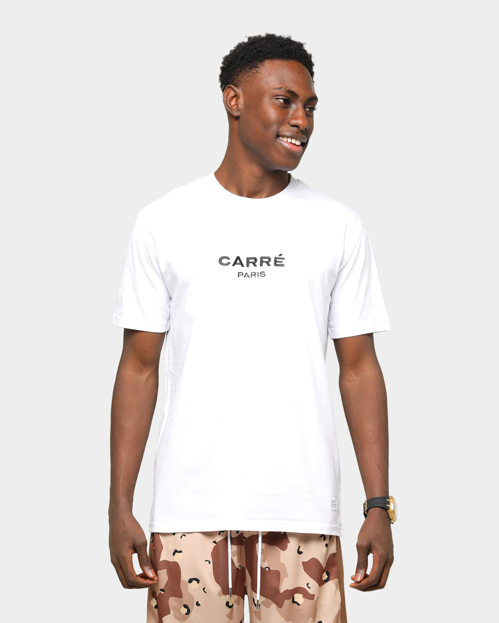 Carré Men's Staple Classique Short Sleeve T-Shirt White