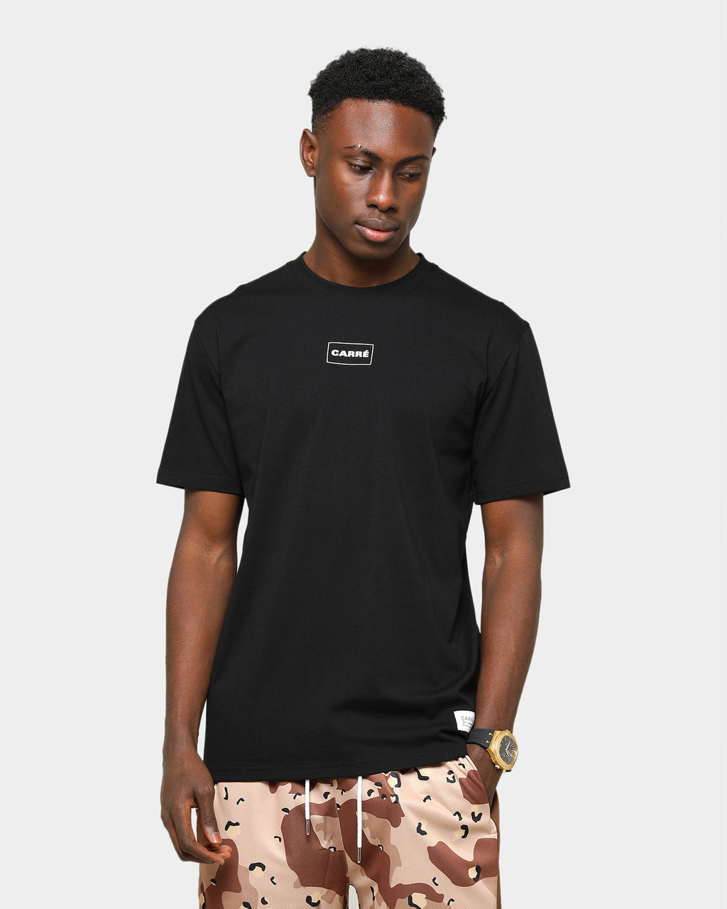 Carré Men's Mini Box Classique Short Sleeve T-Shirt Black