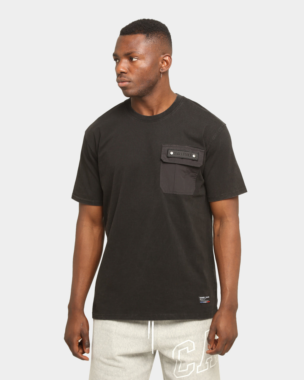 Carré Forest Pocket Short Sleeve T-Shirt Washed Black
