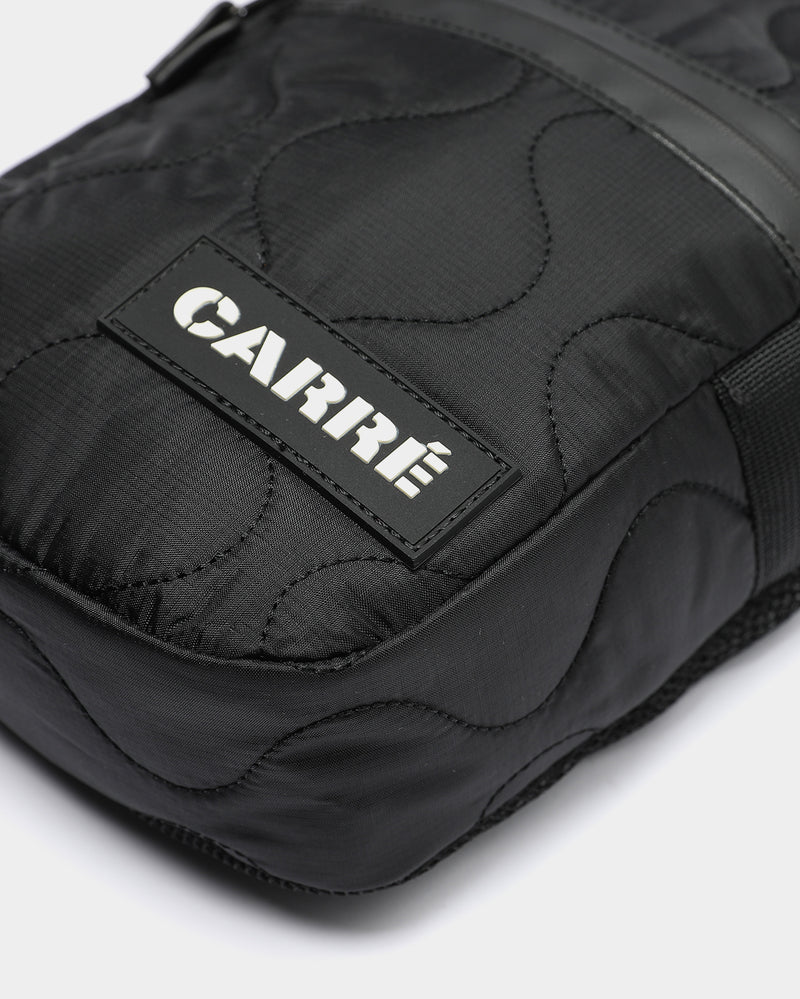 Carré Quilted Pouch Black