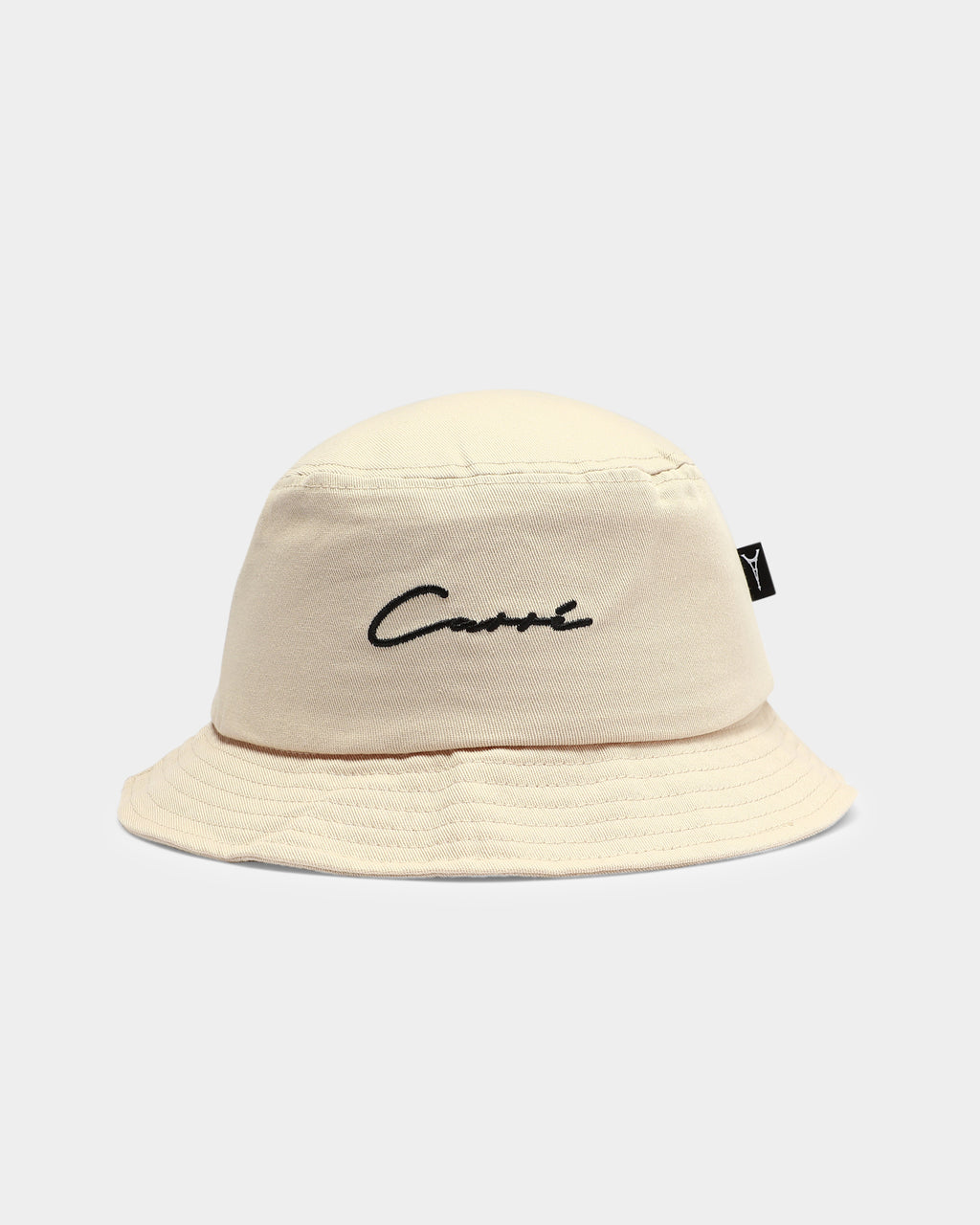 Carré Script Bucket Hat Stone