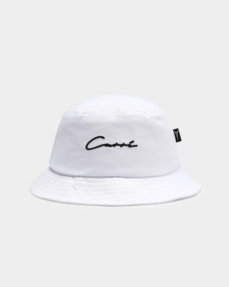 Carré Script Bucket Hat White