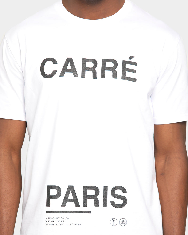 Carré Principle Classique Short Sleeve T-Shirt White