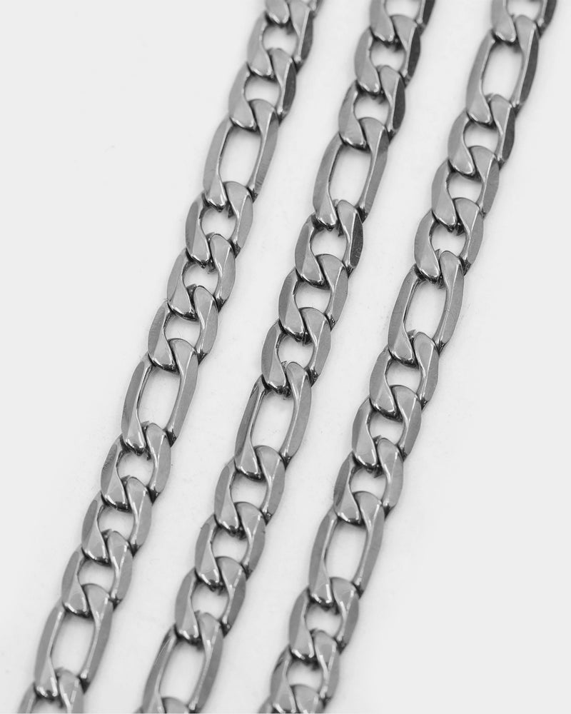 "Carré 5mm Figaro 18"" Chain Silver"