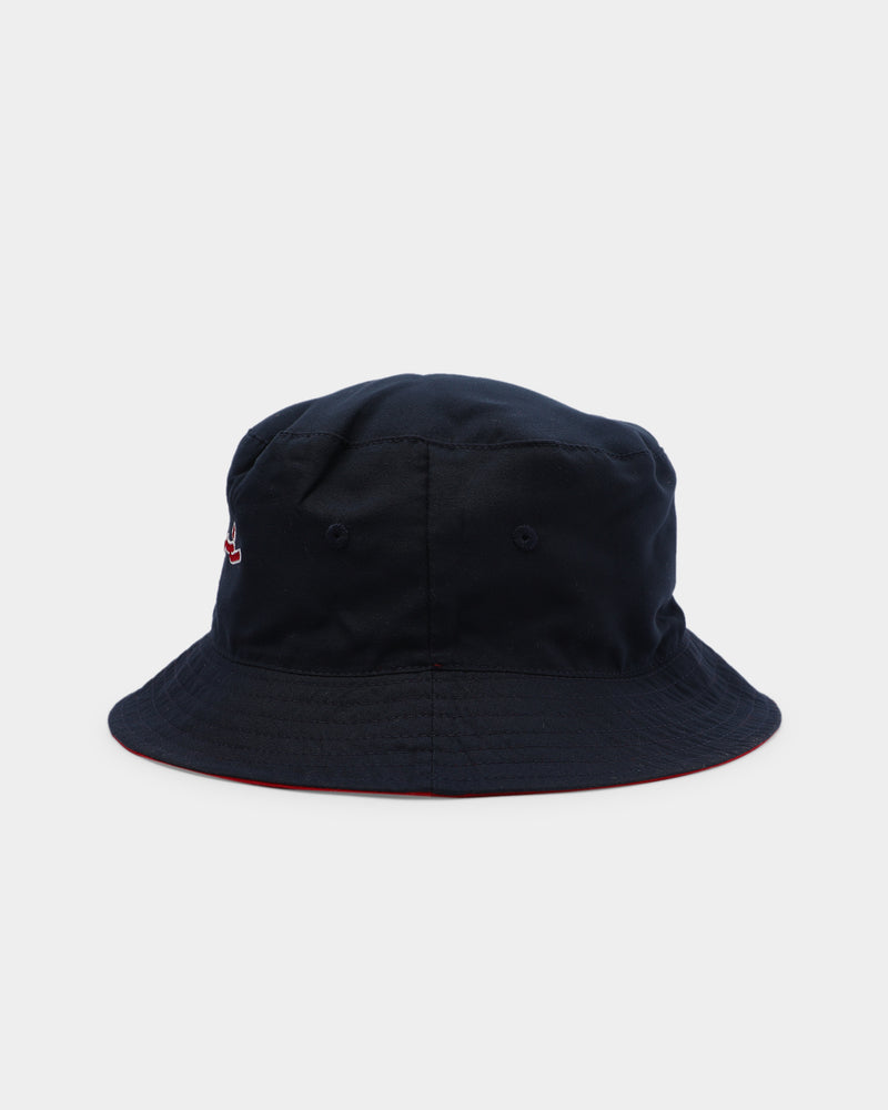 Carre Paris City Reversible Bucket Hat Navy/Red