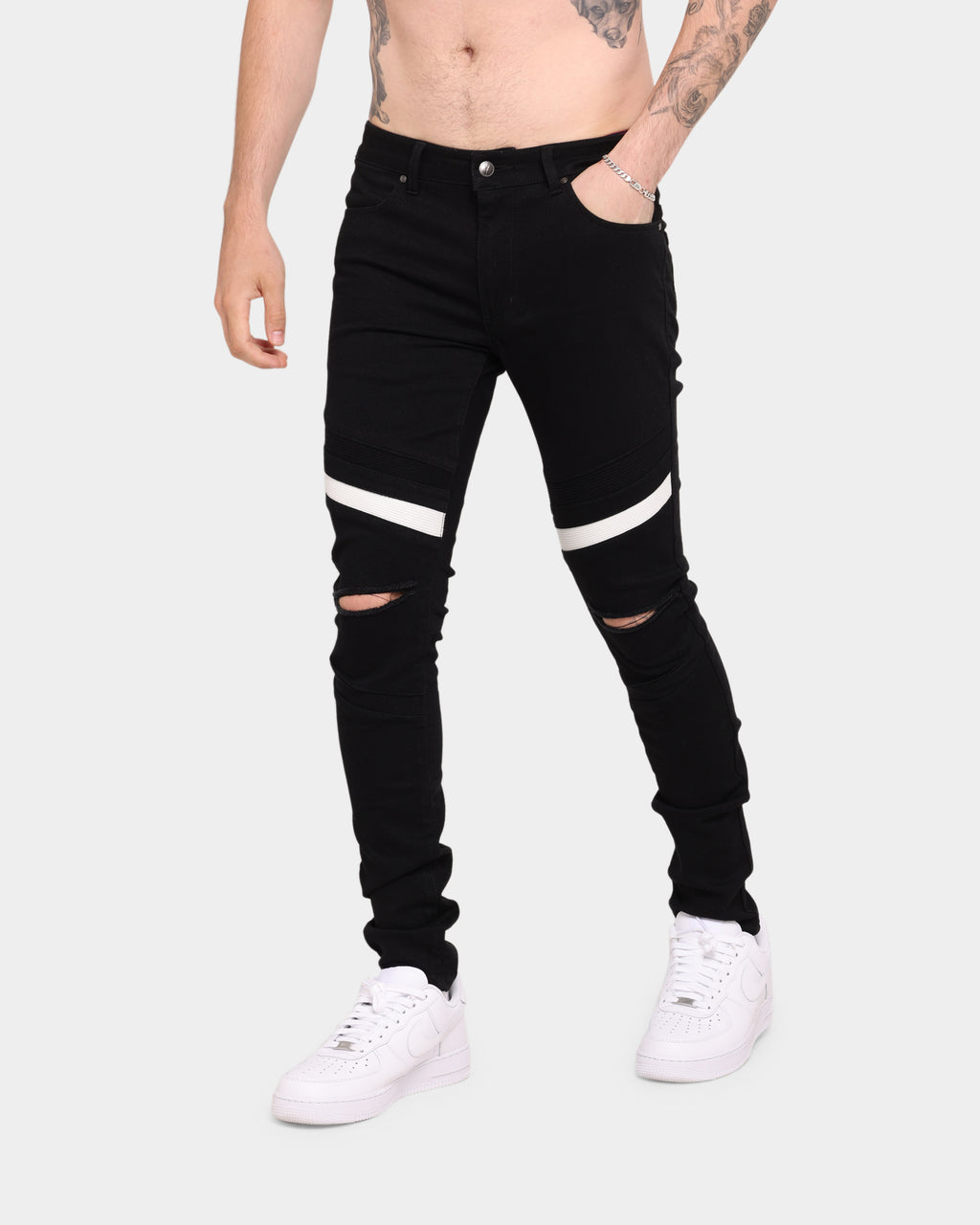Carré Double Evolution Jean Black/White