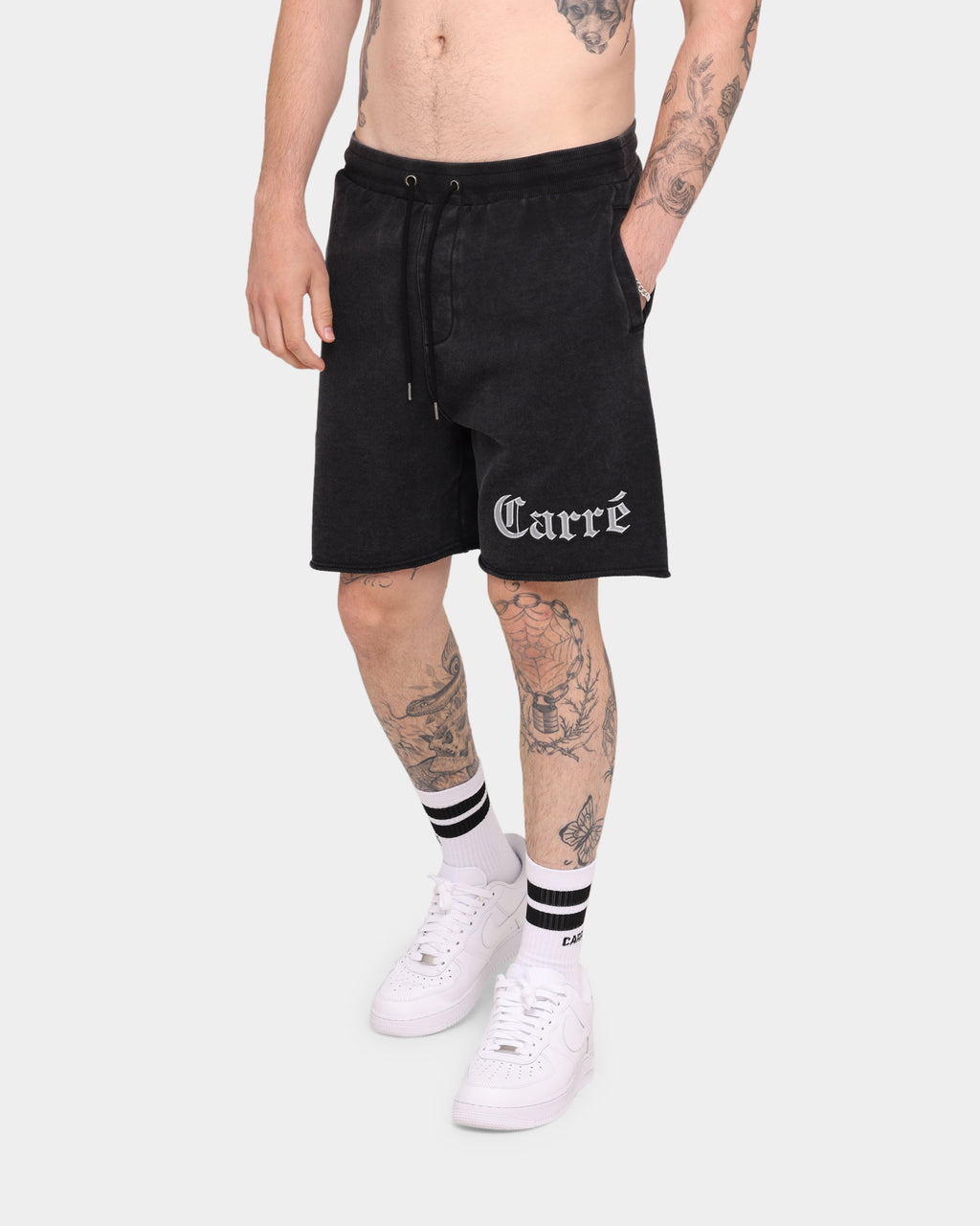 Carré Mafioso Vintage Shorts Washed Black