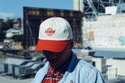 Global Precurved Strapback Grey/red