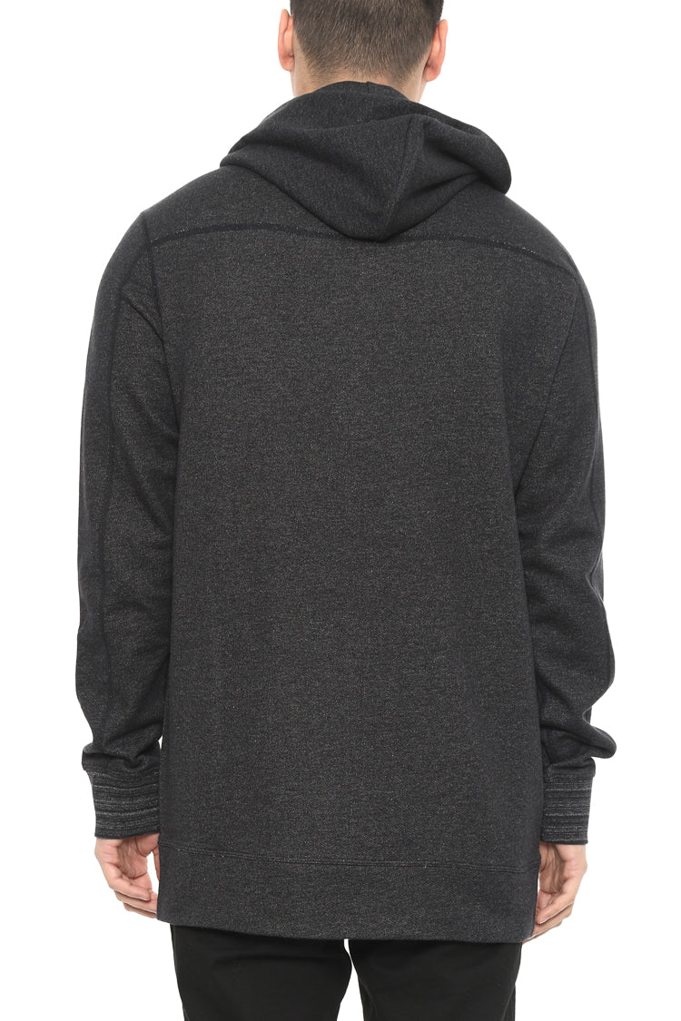 Zip Thru Hoody Kangaroo Pkt Black